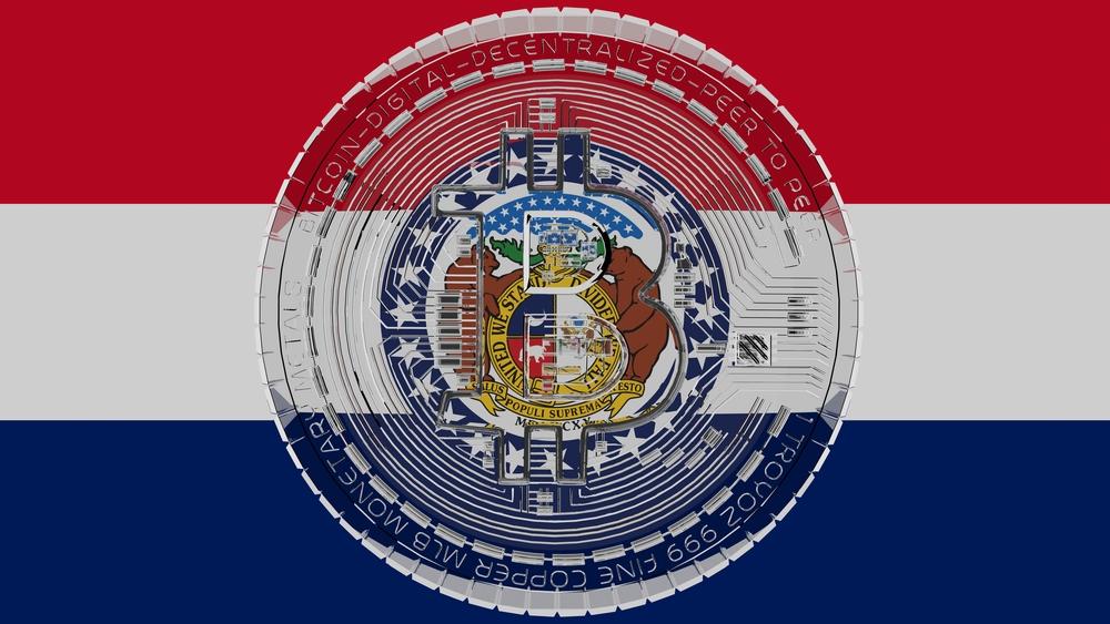 Missouri flag and Bitcoin